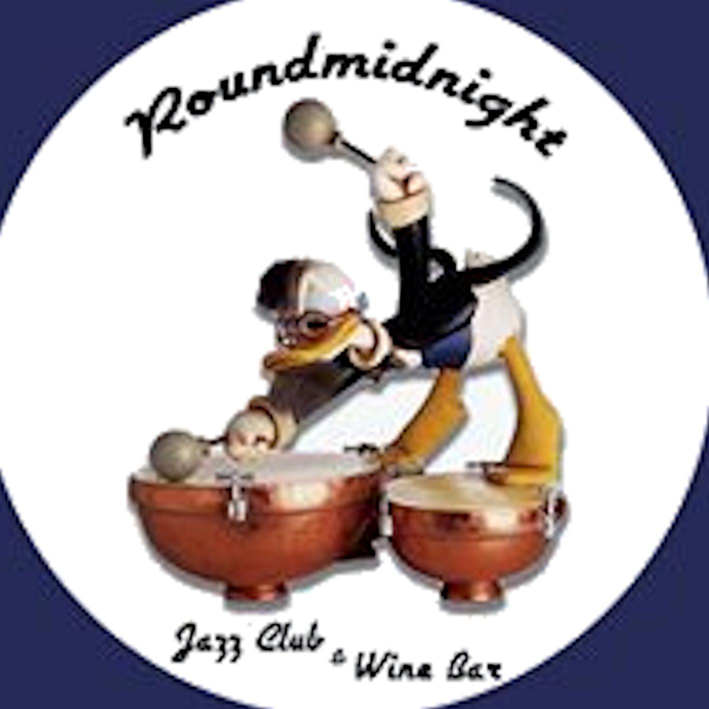 """Round Midnight Jazz Club """"In Town"""" Logo"""